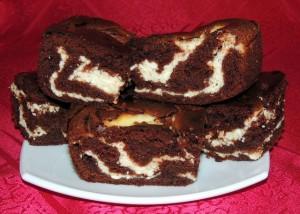 Шоколадно-творожный пирог фото