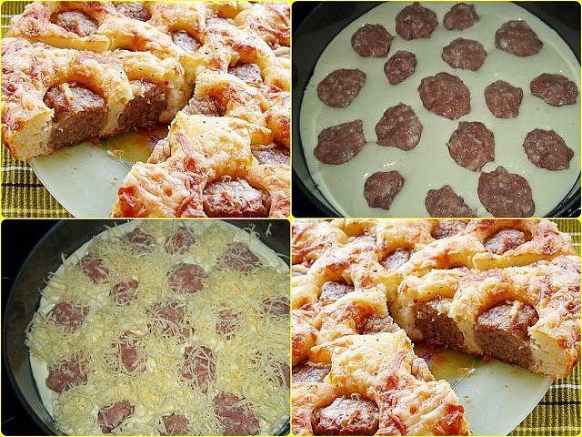 Скорый и вкусный пирог с фрикадельками