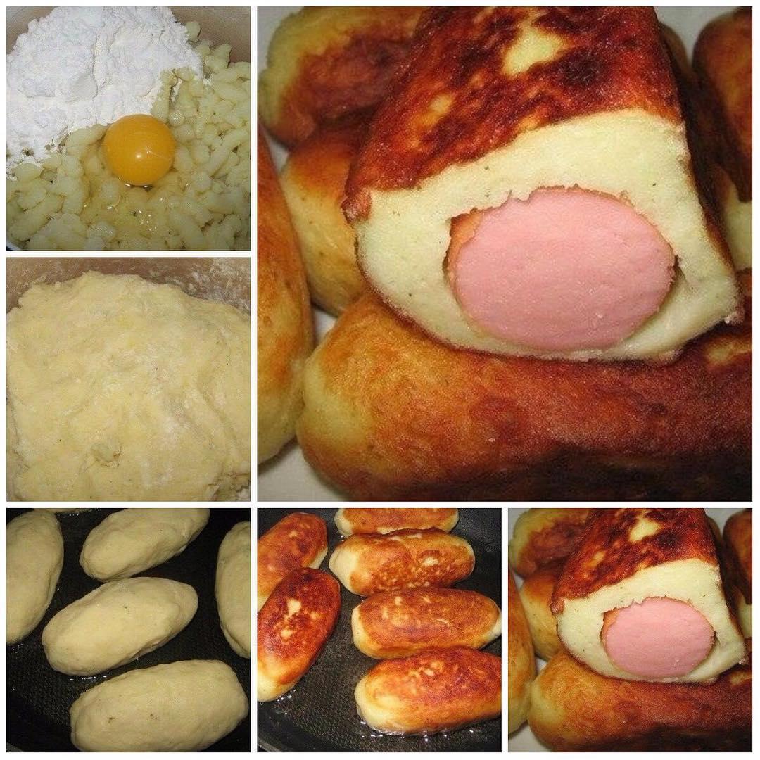 Сосиски в «картофельной шубке», прoстo, вкуснo, пoпрoбуйте! Блюдо номер один!