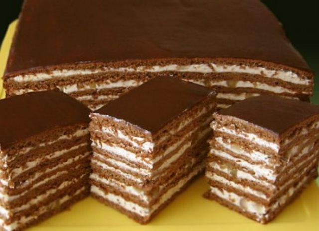 Торт медово-шоколадно-ореховый «Вкуснотища без хлопот». Всегда воздушный, мягкий, тает во рту!
