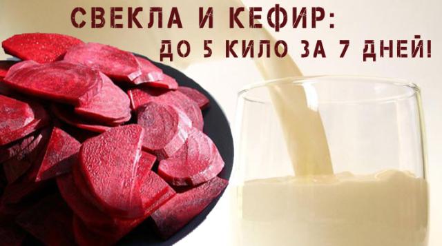 Кефир и свекла: до 5 кг за 7 дней. Эффективный способ сбросить лишний вес.