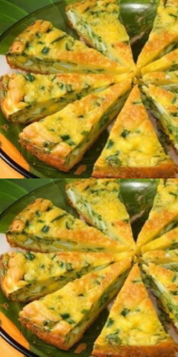 Заливной пирог на кефире с молодой капустой порадует вас нежным вкусом и тонким ароматом весенней зелени.