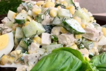 Вкуснейший салат «Неразлучная парочка». Готовим за две минуты