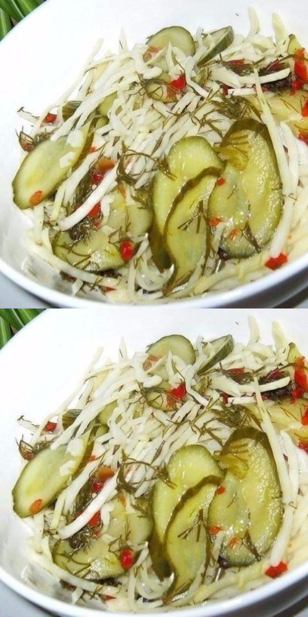 Безумно вкусный салат под маринадом вместо заправки