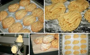 Печенье  через мясорубку фото