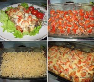 Куриная печень по-итальянски