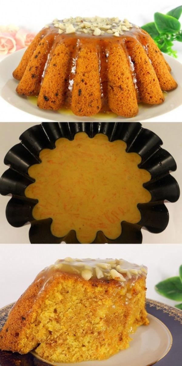Тыквенный кекс с апельсиновой помадкой покорил мою семью своим нежным вкусом.