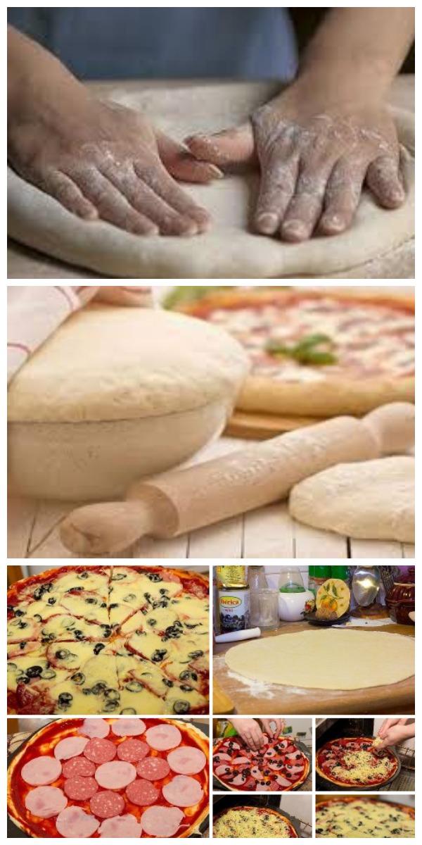 Тесто для пиццы, как в пиццерии: довольно податливое и легкое в работе.