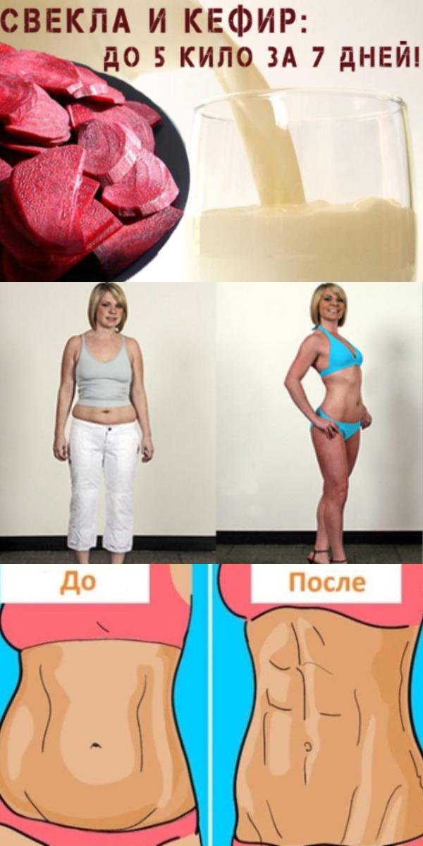 Кефир и свекла до 5 кг за 7 дней. Эффективный способ сбросить лишний вес