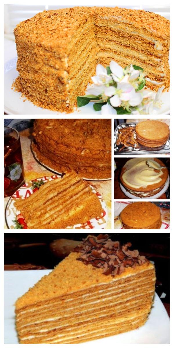 Воздушный нежный торт медовик СТАНЕТ ДОСТОЙНЫМ УКРАШЕНИЕМ ВАШЕГО ПРАЗДНИЧНОГО СТОЛА.