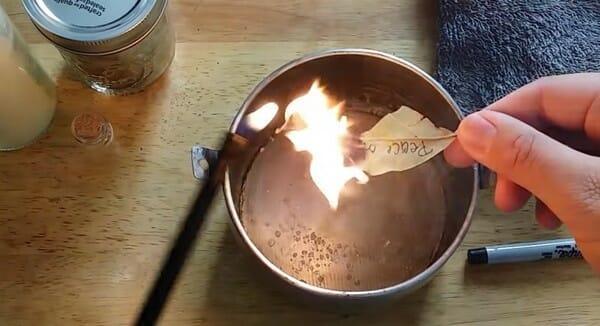 Желание на лавровом листе, брошеном в огонь, творит нечто Чудесное